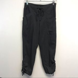 Lucy | Athleisure Black Cropped Tie Pants XS